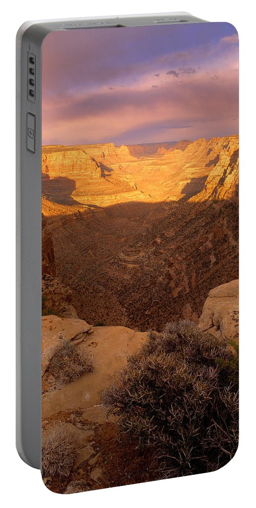 Dark Canyon Wilderness Portable Battery Charger featuring the photograph Dark Canyon Sunset by Leland D Howard