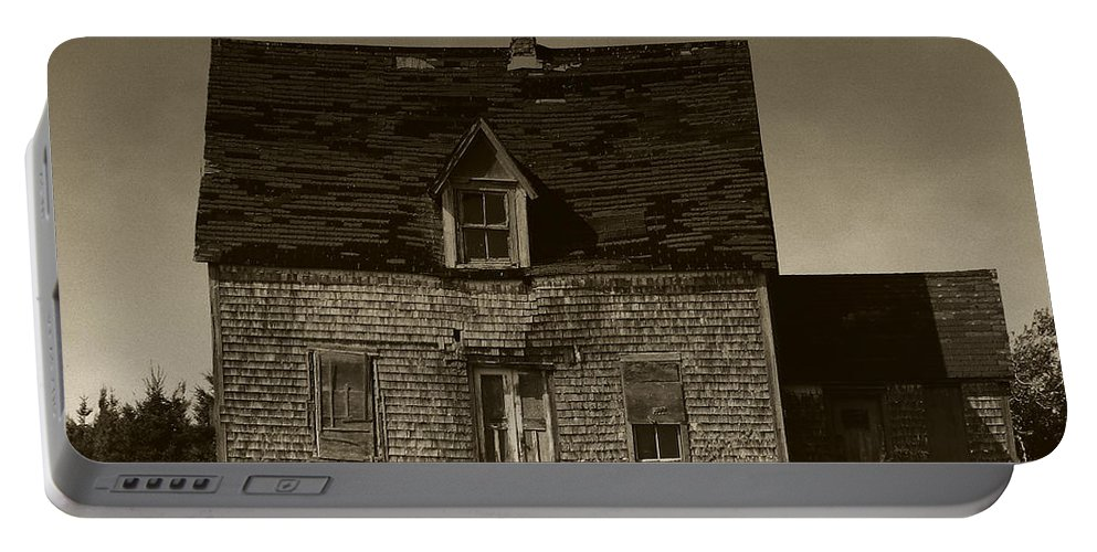 Old House Portable Battery Charger featuring the photograph Dark Day On Lonely Street by RC DeWinter