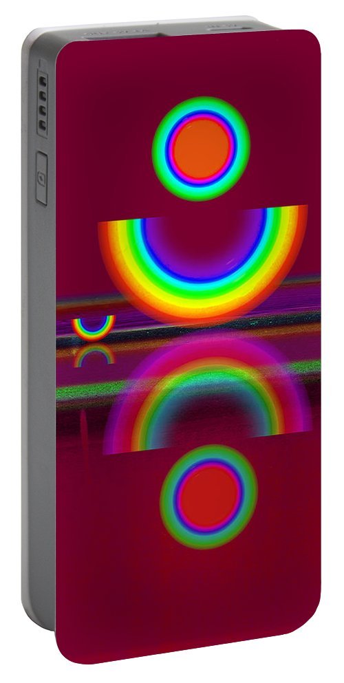 Reflections Portable Battery Charger featuring the painting Dark Heat by Charles Stuart