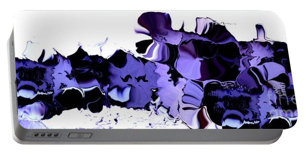 Vegetables Portable Battery Charger featuring the digital art Dark Turbulence by Ron Bissett