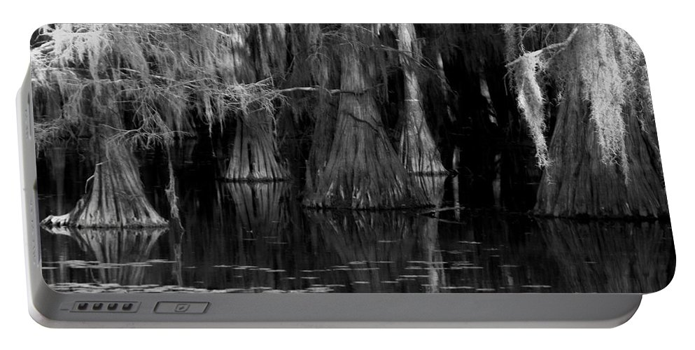 Caddo Portable Battery Charger featuring the photograph Dark Water by Betty Northcutt