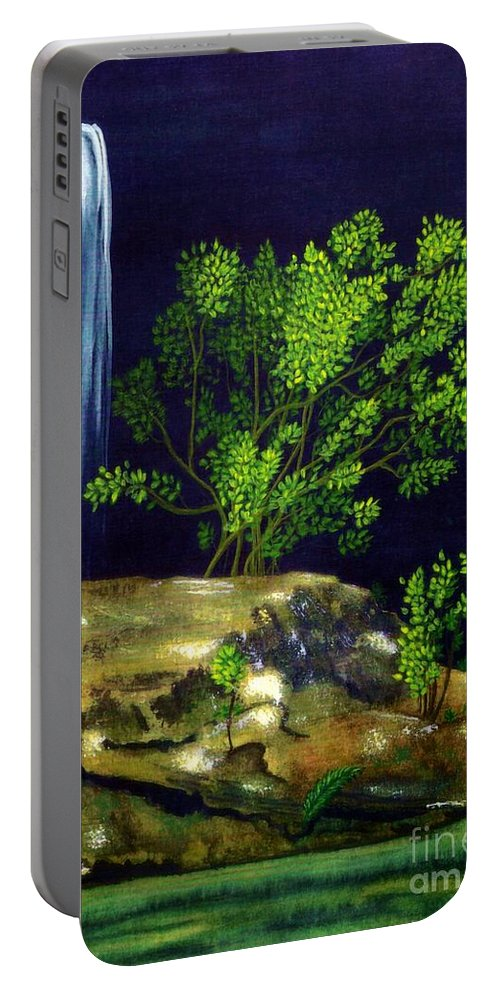 Fine Art Portable Battery Charger featuring the painting Dark Waters by Patricia Griffin Brett