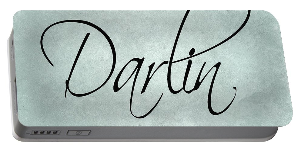 Darlin Portable Battery Charger featuring the digital art Darlin by Lee Owenby