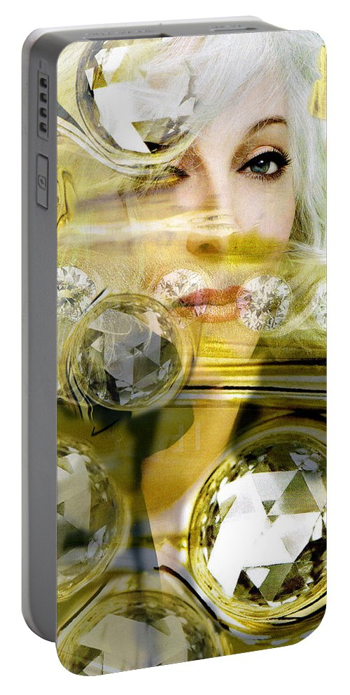 Women Portable Battery Charger featuring the digital art Darling Diamonds by Seth Weaver