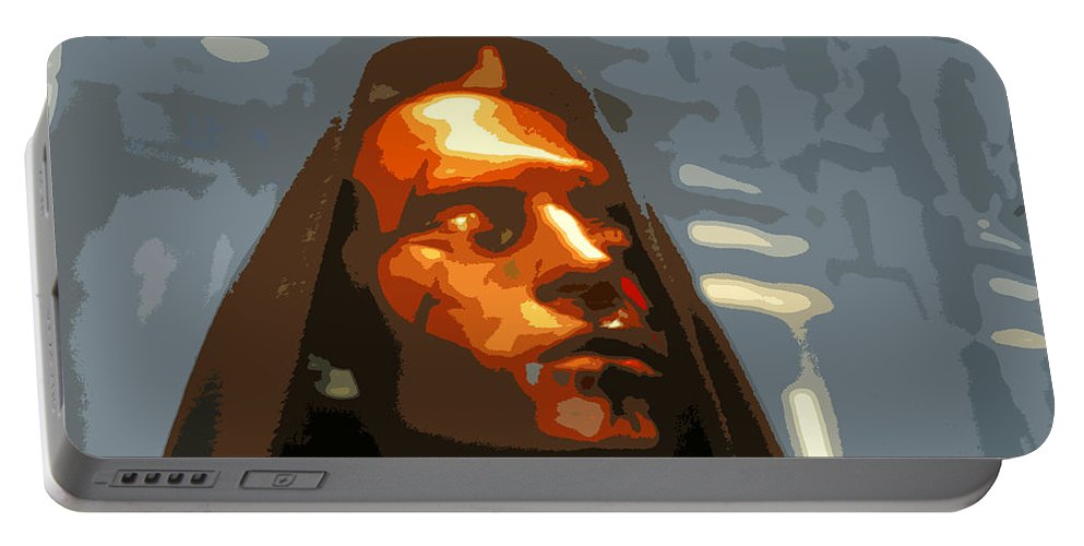 Darth Maul Portable Battery Charger featuring the painting Darth Maul by David Lee Thompson