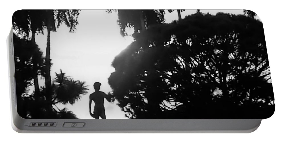 susan Molnar Portable Battery Charger featuring the photograph David At The Ringling Museum by Susan Molnar