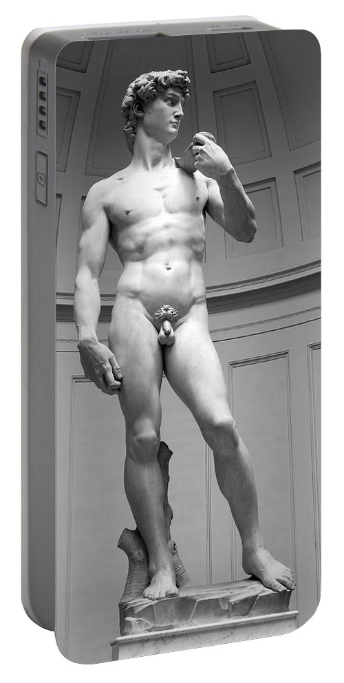 David Portable Battery Charger featuring the photograph David By Michelangelo by Dave Mills