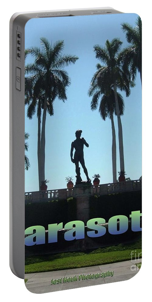 Ringling Museum Portable Battery Charger featuring the photograph David In Sarasota by Jost Houk