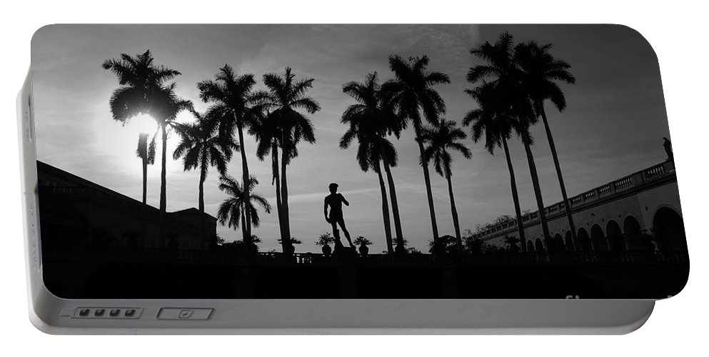 David Portable Battery Charger featuring the photograph David With Palms by David Lee Thompson