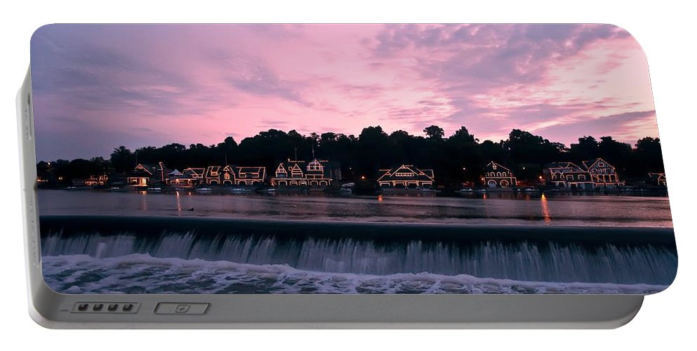 Dawn At Boathouse Row Portable Battery Charger featuring the photograph Dawn At Boathouse Row by Bill Cannon