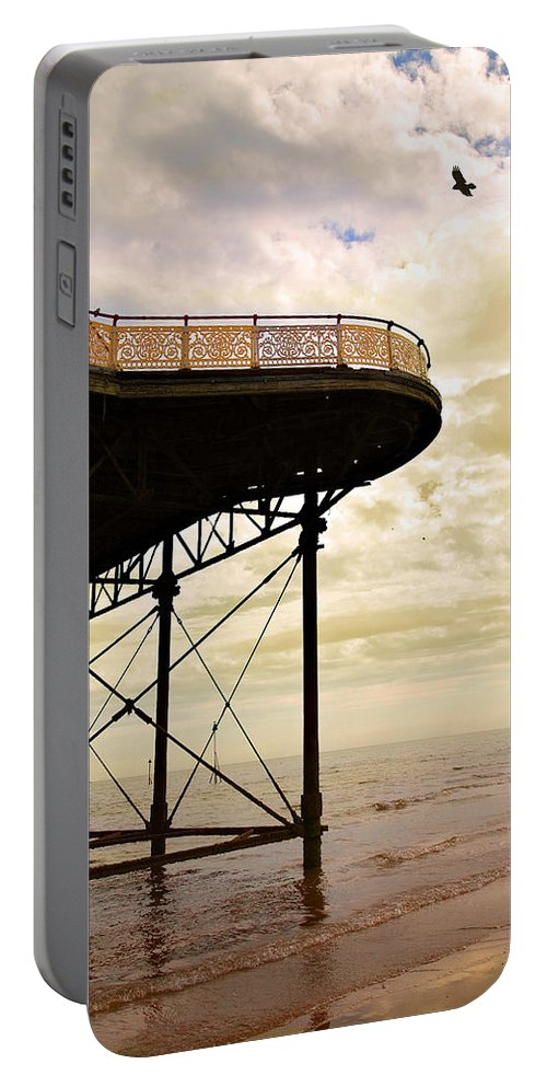 Victoria Portable Battery Charger featuring the photograph Dawn At Colwyn Bay Victoria Pier Conwy North Wales Uk by Mal Bray