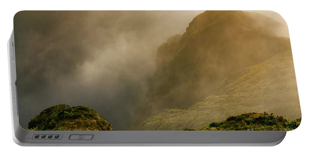 Azores Portable Battery Charger featuring the photograph Dawn at Fogo crater by Gaspar Avila