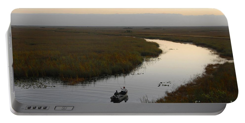 Fishing Portable Battery Charger featuring the photograph Dawn Everglades Florida by David Lee Thompson