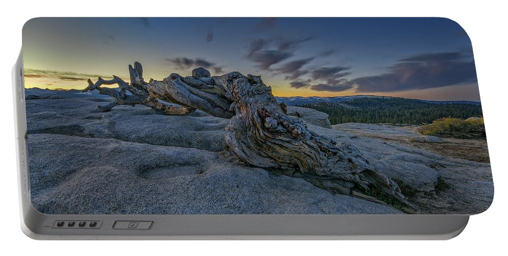 Jeffrey Pine Portable Battery Charger featuring the photograph Dawn On Sentinel by Rick Berk