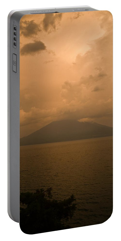 Central Portable Battery Charger featuring the photograph Dawn Over The Volcano 2 by Douglas Barnett
