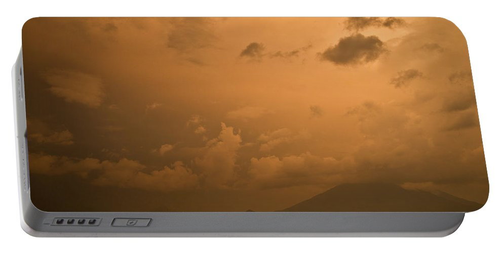 Central Portable Battery Charger featuring the photograph Dawn Over The Volcano 3 by Douglas Barnett