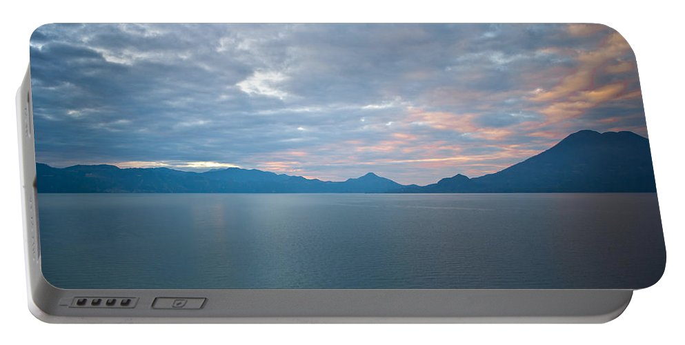 Central Portable Battery Charger featuring the photograph Dawn Over The Volcano 5 by Douglas Barnett