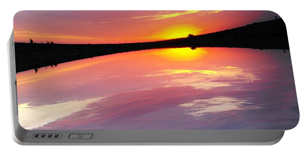 Sky Portable Battery Charger featuring the photograph Dawn Sky And Water by Concolleen's Visions Smith