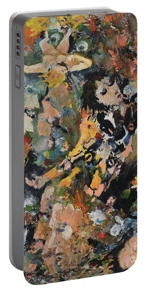 Face Portable Battery Charger featuring the painting Dawned Upon by Oleg Konin
