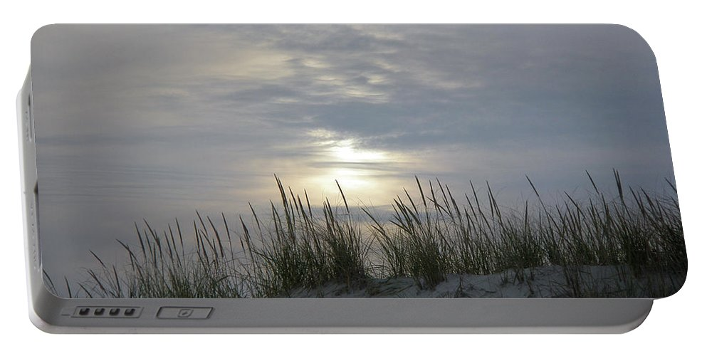 Sky Portable Battery Charger featuring the photograph Day Fades Behind The Dunes by Mother Nature