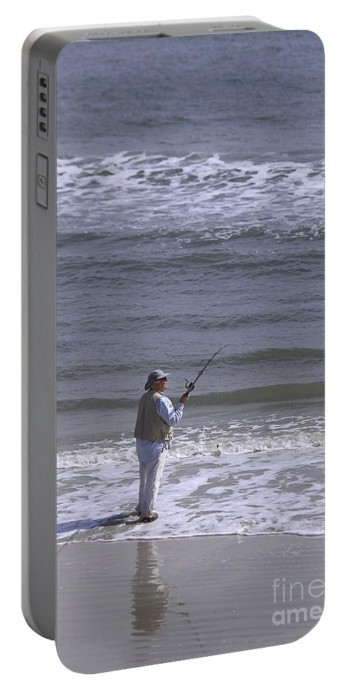 Ocean Portable Battery Charger featuring the photograph Day Of Ocean Fishing by Deborah Benoit