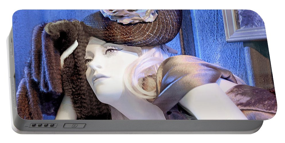 Window Mannequin Portable Battery Charger featuring the photograph Daydreamer by Regina Geoghan