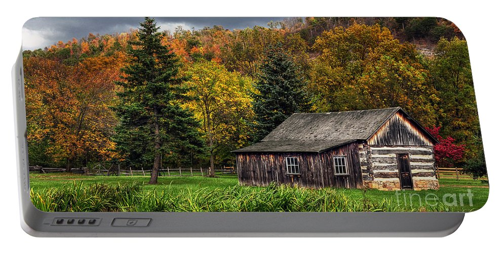 Cabin Portable Battery Charger featuring the photograph Days Gone By by Lois Bryan