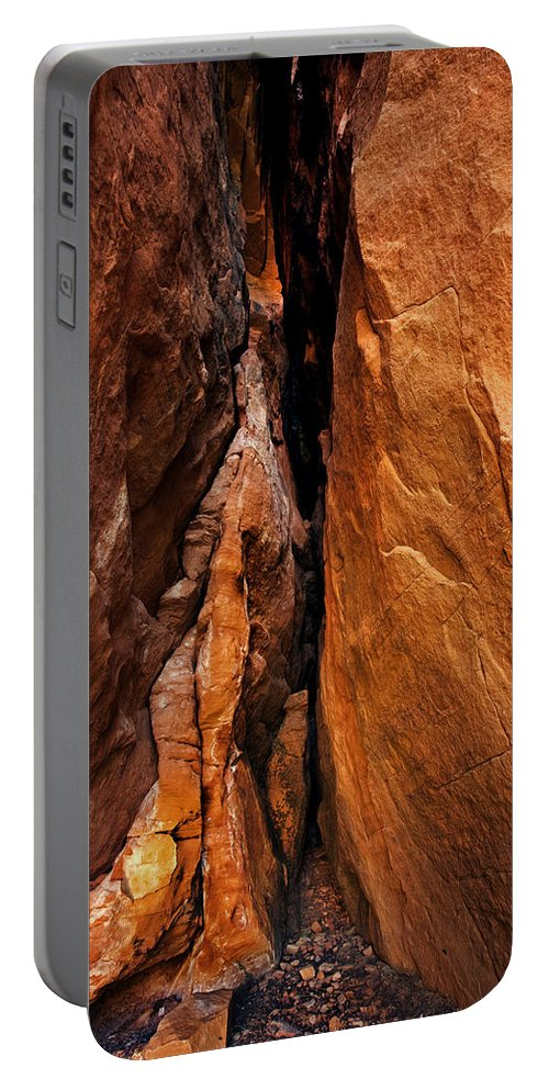 Soldier's Pass Portable Battery Charger featuring the photograph Dead End by Mike Dawson