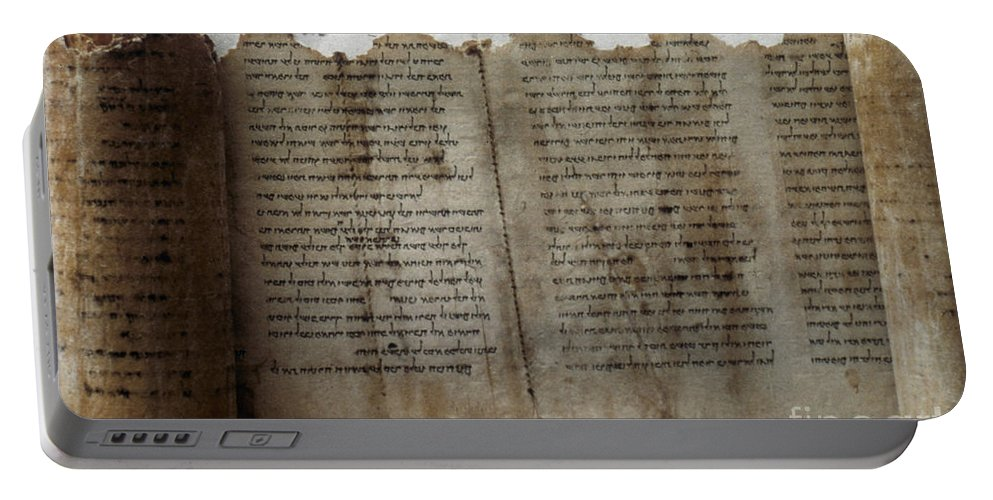1st Century B.c. Portable Battery Charger featuring the photograph Dead Sea Scroll by Granger