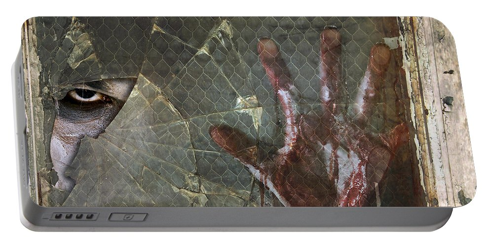 Help Portable Battery Charger featuring the photograph Dead Window by Jt PhotoDesign