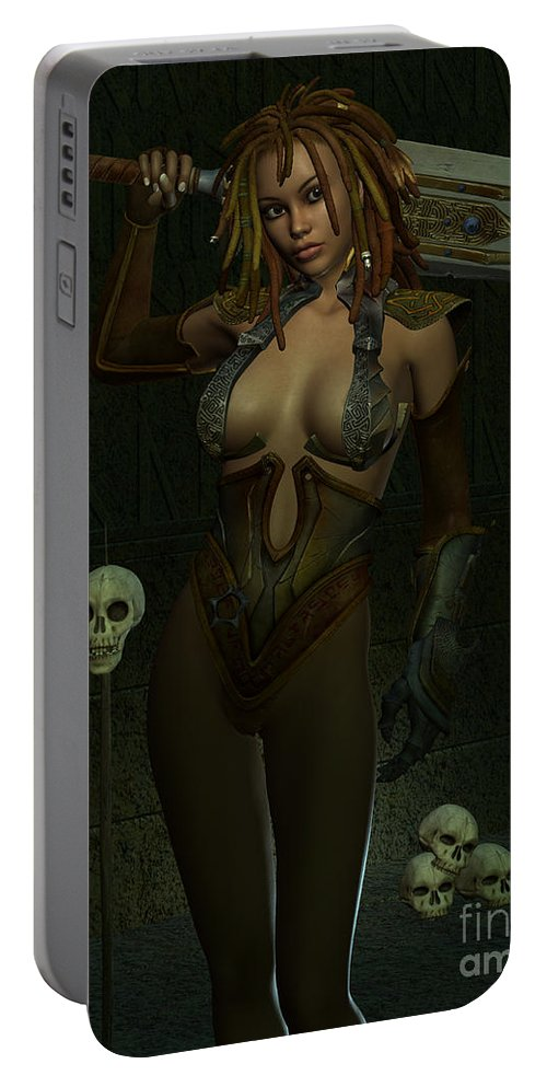 3d Portable Battery Charger featuring the digital art Death Dealer by Alexander Butler
