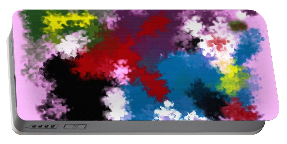 Abstract Portable Battery Charger featuring the digital art Death Of Discrimination by Donna Blackhall