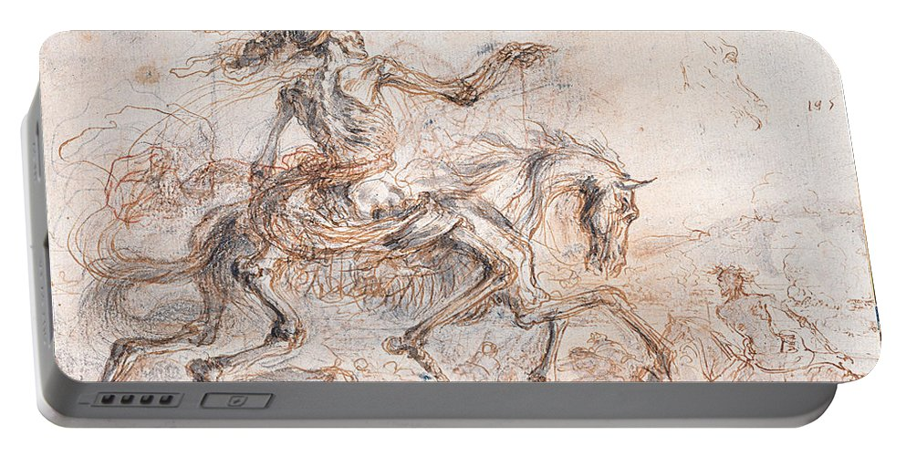 Stefano Della Bella Portable Battery Charger featuring the drawing Death On The Battlefield by Stefano della Bella