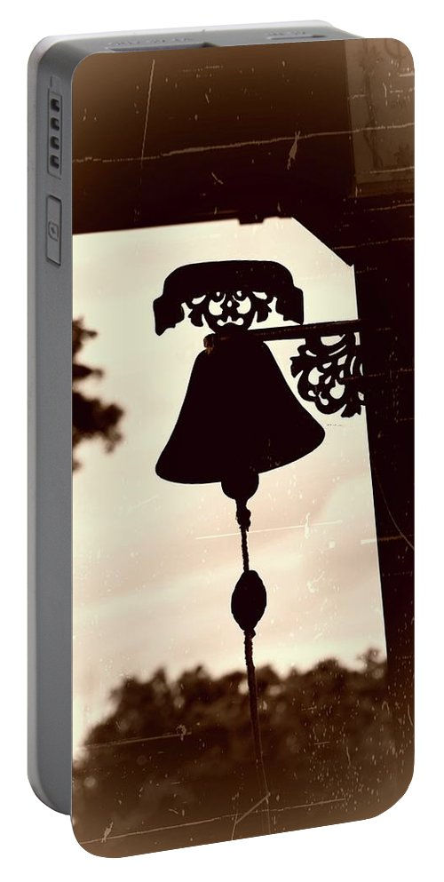 Vintage Portable Battery Charger featuring the photograph Decorative Bell by John Myers