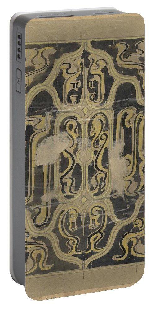 Pattern Portable Battery Charger featuring the painting Decorative Design, Carel Adolph Lion Cachet, 1874 - 1945 Vq by Carel Adolph Lion Cachet