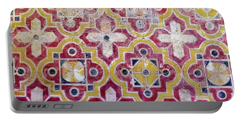 Islamic Portable Battery Charger featuring the photograph Decorative Tiles Islamic Motif by Ami Siano