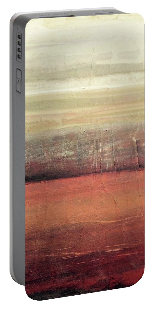 Portable Battery Charger featuring the painting Deep Beneath by Jannicke Wiig