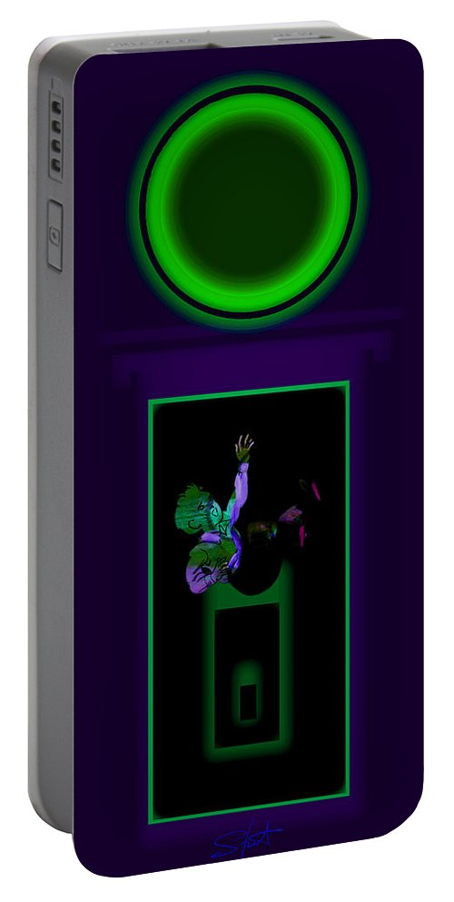 Palladian Portable Battery Charger featuring the painting Deep Violet by Charles Stuart