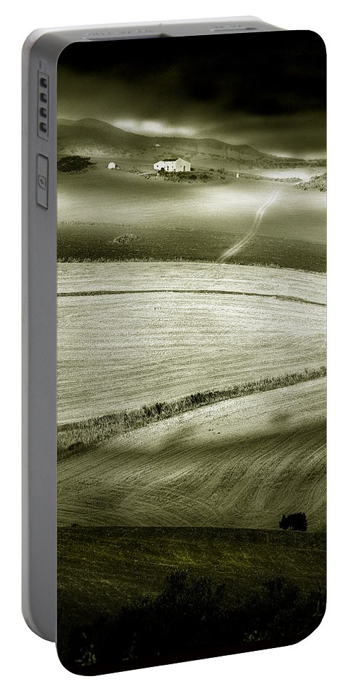 Landscape Portable Battery Charger featuring the photograph Deepening Shadows by Mal Bray