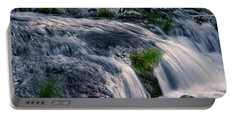 Creek Portable Battery Charger featuring the photograph Deer Creek 01 by Peter Piatt