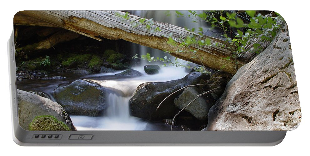 Creek Portable Battery Charger featuring the photograph Deer Creek 03 by Peter Piatt