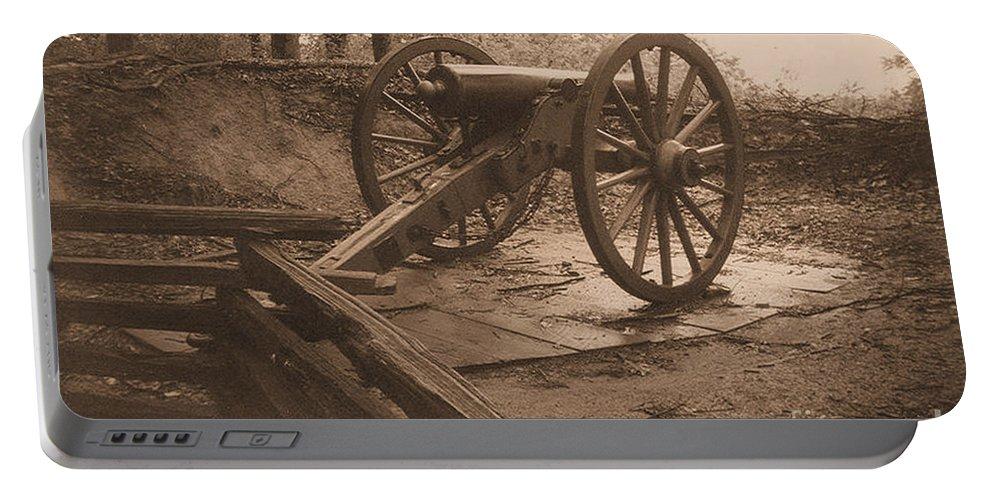Kenshaw Mountain Portable Battery Charger featuring the photograph Defend The Mountain by Tommy Anderson