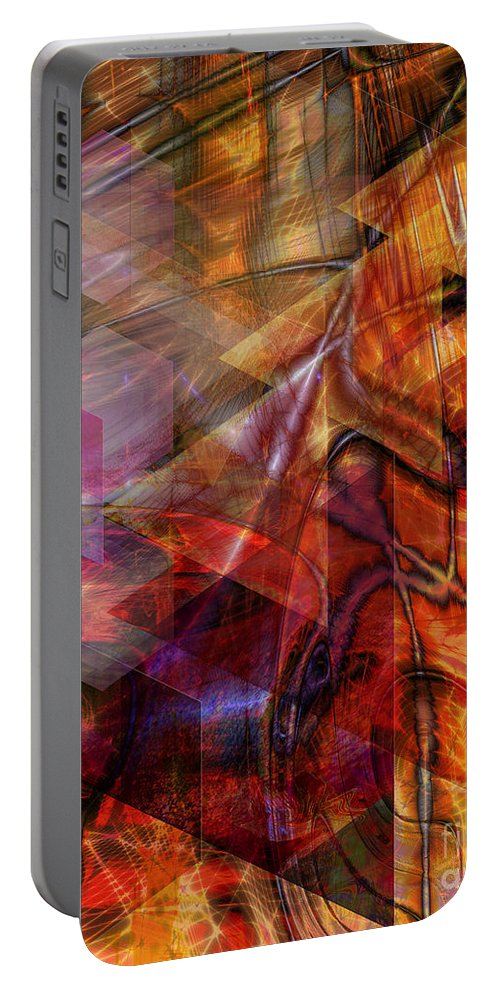 Deguello Sunrise Portable Battery Charger featuring the digital art Deguello Sunrise by John Beck