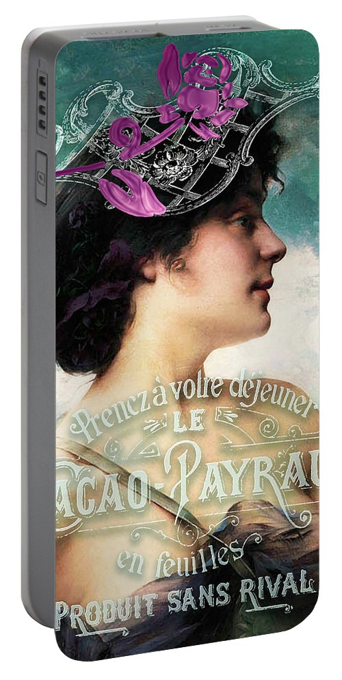 Beauty Portable Battery Charger featuring the digital art Dejeuner De Luxe by Sarah Vernon