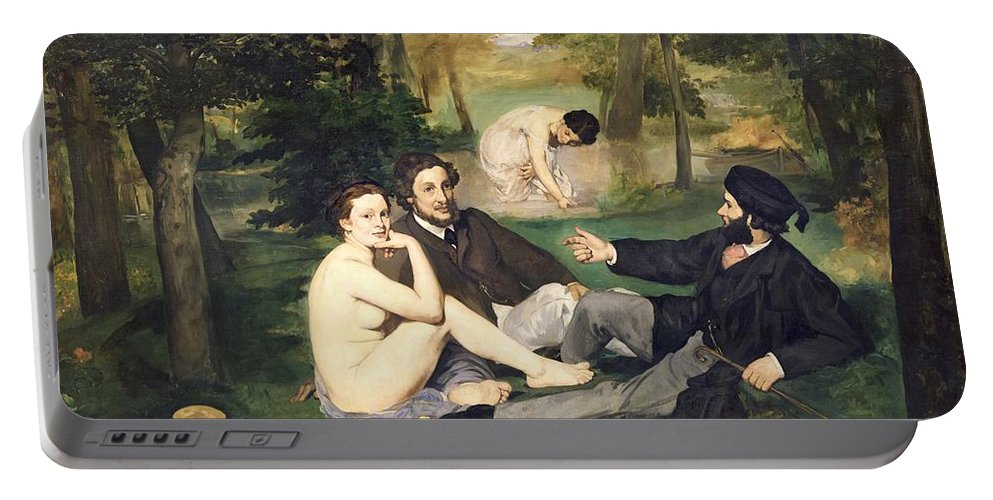 Dejeuner Portable Battery Charger featuring the painting Dejeuner Sur L Herbe by Edouard Manet