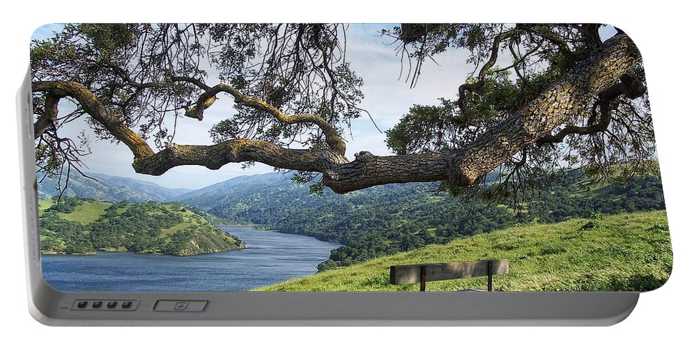 California Portable Battery Charger featuring the photograph Del Valle Reservoir by Donna Blackhall