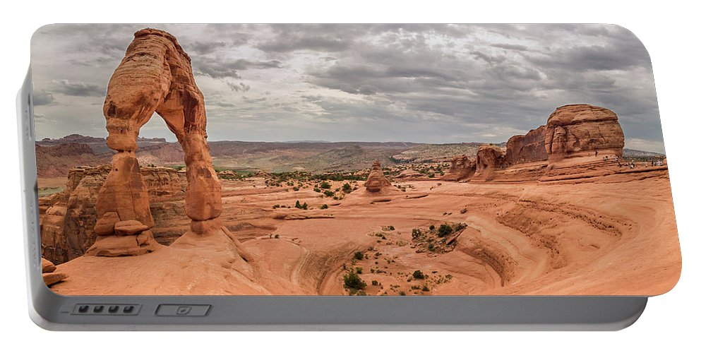 3scape Portable Battery Charger featuring the photograph Delicate Arch Panoramic by Adam Romanowicz