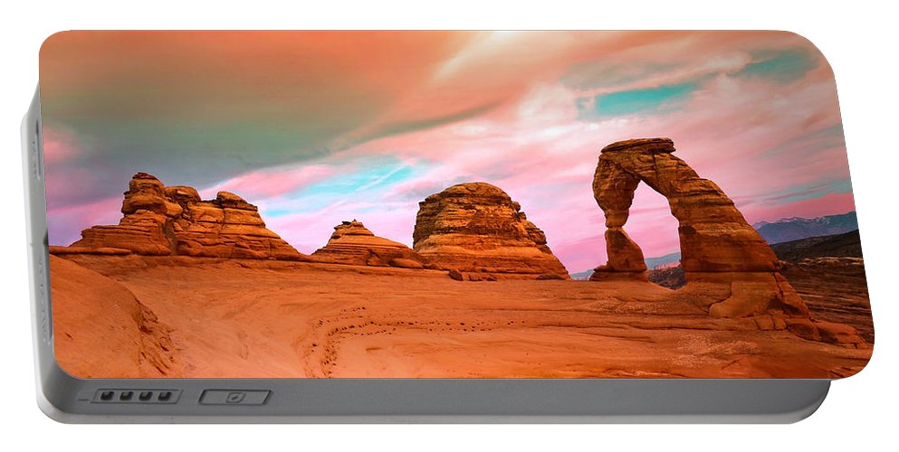 Delicate Arch Portable Battery Charger featuring the photograph Delicate Arch by Tara Turner