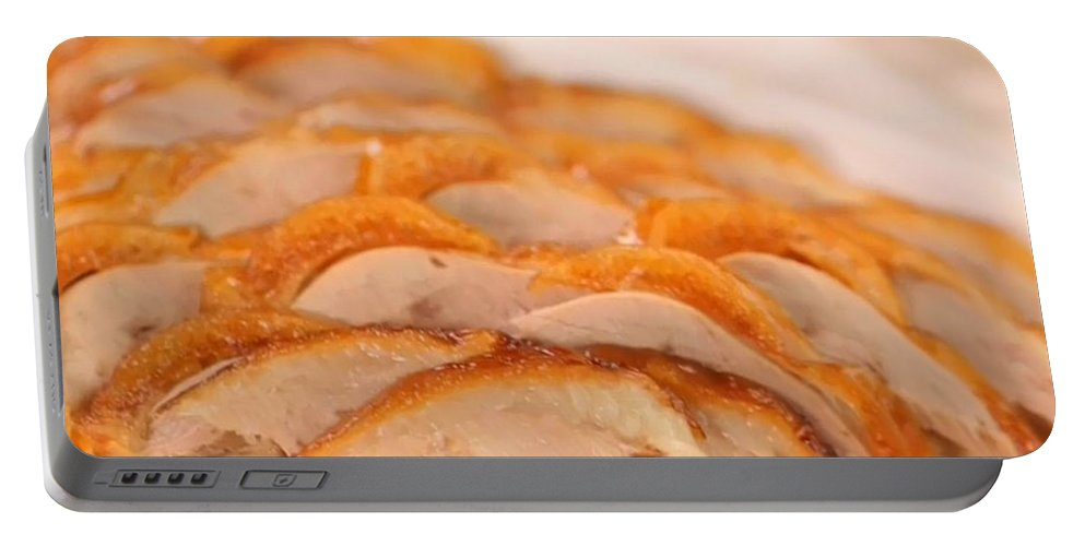 Duck Portable Battery Charger featuring the photograph A Delicious Meal Of Roast Duck by Allan Greer