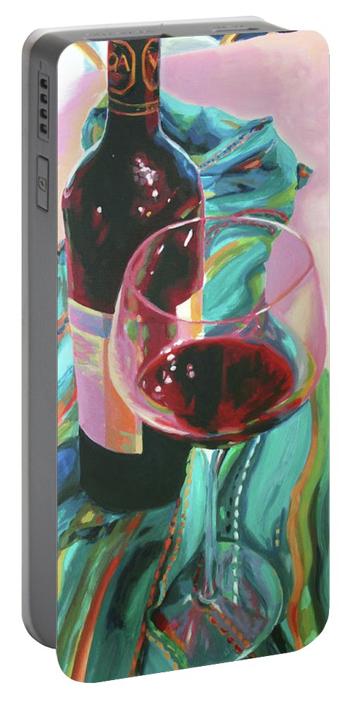 Still Life Portable Battery Charger featuring the painting Delight by Trina Teele